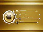 Abstract Golden Horizontal Lines PowerPoint Template#3