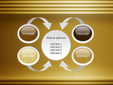 Abstract Golden Horizontal Lines PowerPoint Template#6