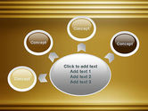 Abstract Golden Horizontal Lines PowerPoint Template#7
