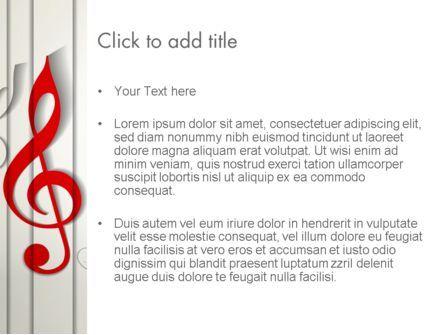 Red Treble Clef PowerPoint Template, Slide 3, 12637, Art & Entertainment — PoweredTemplate.com