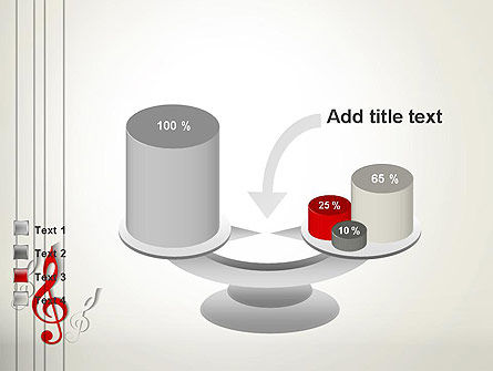 Red Treble Clef PowerPoint Template Slide 10