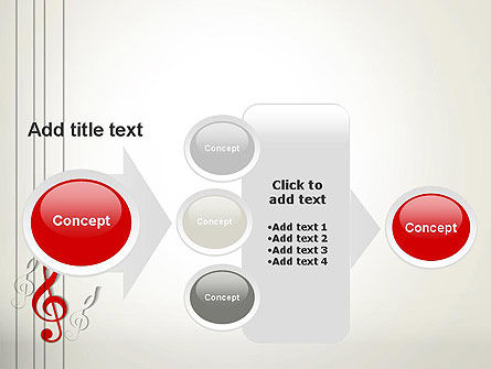 Red Treble Clef PowerPoint Template Slide 17