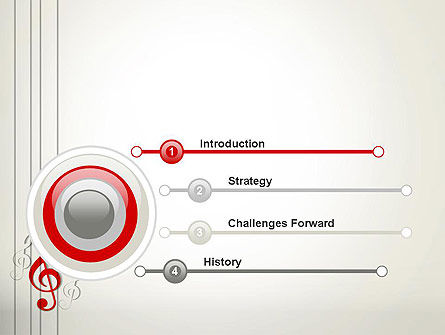 Red Treble Clef PowerPoint Template, Slide 3, 12637, Art & Entertainment — PoweredTemplate.com