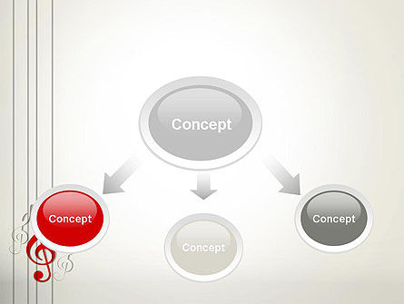 Red Treble Clef PowerPoint Template, Slide 4, 12637, Art & Entertainment — PoweredTemplate.com