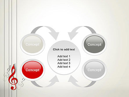 Red Treble Clef PowerPoint Template Slide 6