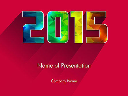 Holiday/Special Occasion: Modern Style 2015 PowerPoint Template #12638