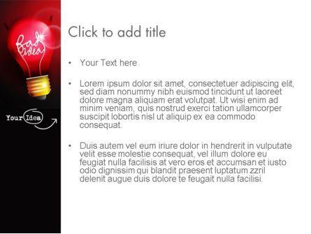 Bad Idea PowerPoint Template, Slide 3, 12639, Business Concepts — PoweredTemplate.com