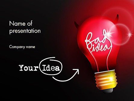 Bad Idea PowerPoint Template