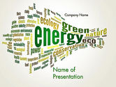 Nature & Environment: Green Energy Word Cloud PowerPoint Template #12640