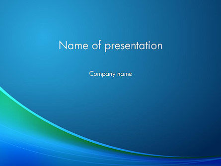 Blue Background with Abstract Wave PowerPoint Template, 12642, Abstract/Textures — PoweredTemplate.com