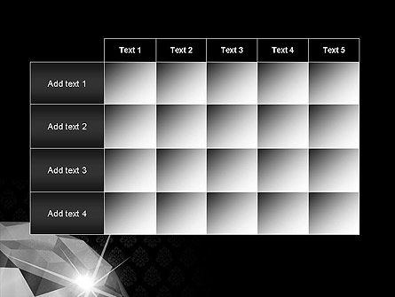 Diamond Facets PowerPoint Template Slide 15