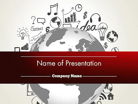Education & Training: Global Knowledge PowerPoint Template #12646