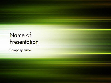Abstract/Textures: Plantilla de PowerPoint - desenfoque de movimiento abstracto verde #12647