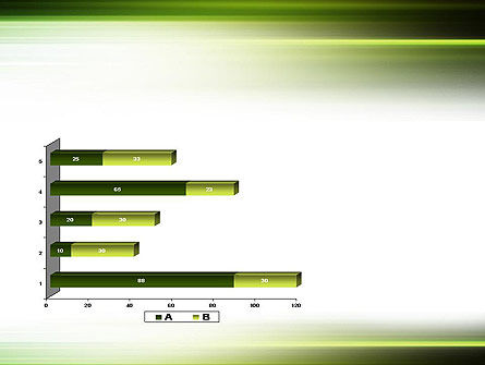 Green Abstract Motion Blur PowerPoint Template Slide 11