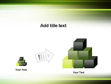 Green Abstract Motion Blur PowerPoint Template Slide 13
