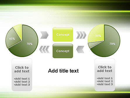 Green Abstract Motion Blur PowerPoint Template Slide 16