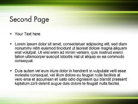 Green Abstract Motion Blur PowerPoint Template, Slide 2, 12647, Abstract/Textures — PoweredTemplate.com