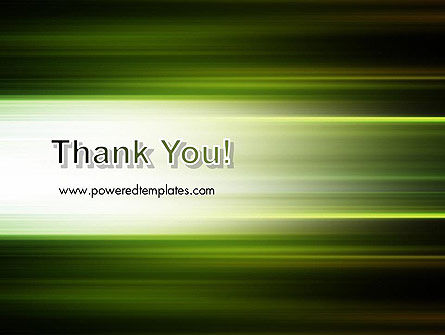 Green Abstract Motion Blur PowerPoint Template Slide 20