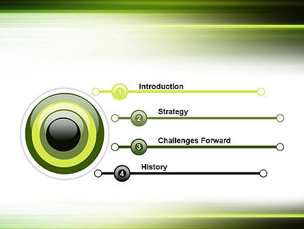Green Abstract Motion Blur PowerPoint Template Slide 3