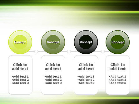 Green Abstract Motion Blur PowerPoint Template Slide 5