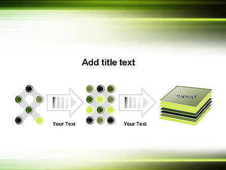 Green Abstract Motion Blur PowerPoint Template Slide 9