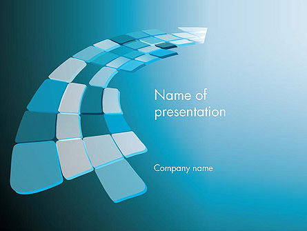 Abstract Blue Platforms PowerPoint Template, 12648, Abstract/Textures — PoweredTemplate.com