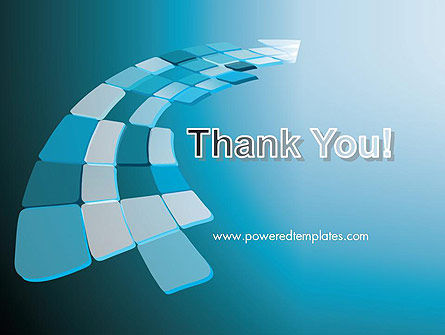 Abstract Blue Platforms PowerPoint Template Slide 20