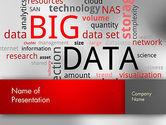 Technology and Science: Modèle PowerPoint de nuage de mots de données #12649