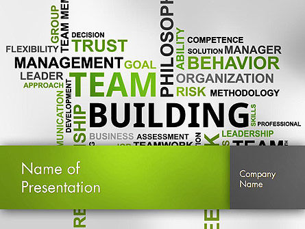 Team Building Word Cloud PowerPoint Template, 12651, Careers/Industry — PoweredTemplate.com
