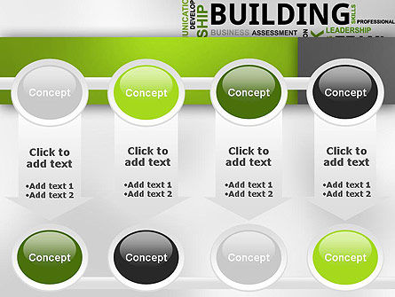 Team Building Word Cloud PowerPoint Template Slide 18