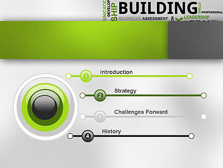 Team Building Word Cloud PowerPoint Template, Slide 3, 12651, Careers/Industry — PoweredTemplate.com
