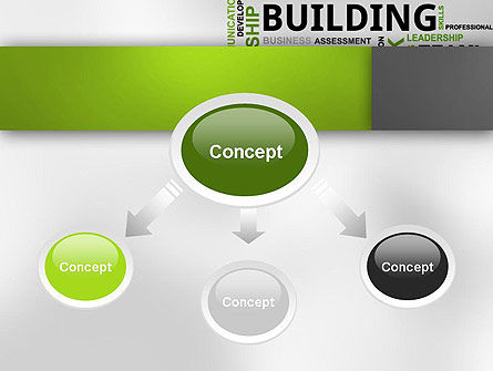 Team Building Word Cloud PowerPoint Template, Slide 4, 12651, Careers/Industry — PoweredTemplate.com