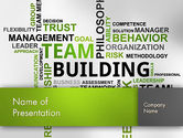Team Building Word Cloud PowerPoint Template#1