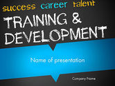 Education & Training: Training and Development PowerPoint Template #12652
