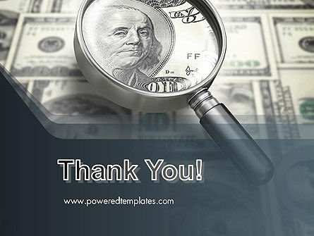 Dollar Through Magnifier PowerPoint Template Slide 20