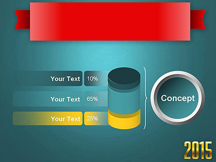 2015 Gold Numbers PowerPoint Template Slide 11