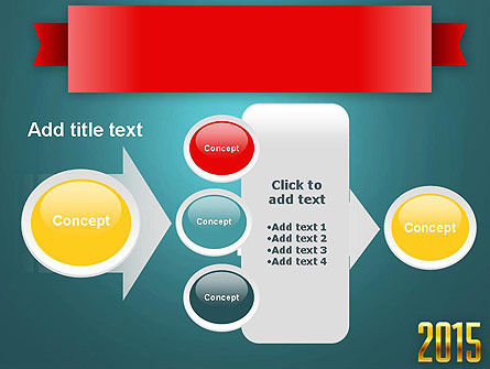 2015 Gold Numbers PowerPoint Template Slide 17