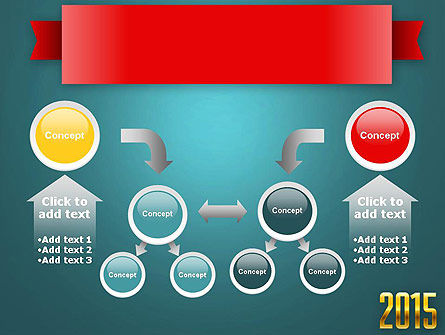 2015 Gold Numbers PowerPoint Template Slide 19