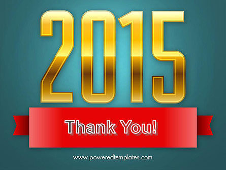 2015 Gold Numbers PowerPoint Template Slide 20