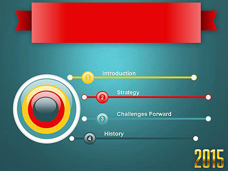 2015 Gold Numbers PowerPoint Template Slide 3
