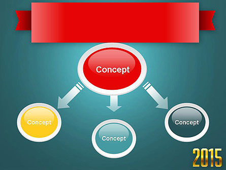 2015 Gold Numbers PowerPoint Template Slide 4