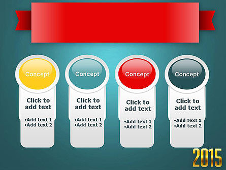 2015 Gold Numbers PowerPoint Template Slide 5