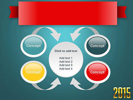 2015 Gold Numbers PowerPoint Template Slide 6