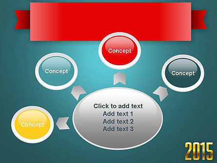 2015 Gold Numbers PowerPoint Template Slide 7