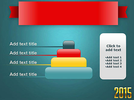 2015 Gold Numbers PowerPoint Template Slide 8