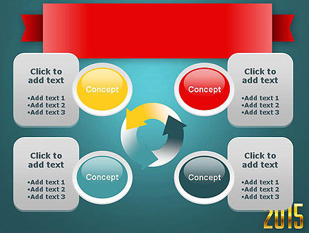 2015 Gold Numbers PowerPoint Template Slide 9