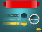 2015 Gold Numbers PowerPoint Template#11