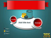 2015 Gold Numbers PowerPoint Template#16
