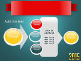 2015 Gold Numbers PowerPoint Template#17