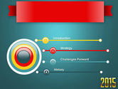 2015 Gold Numbers PowerPoint Template#3